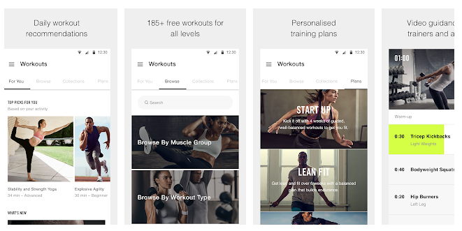 Nike Training Club- Workouts & Fitness Plans