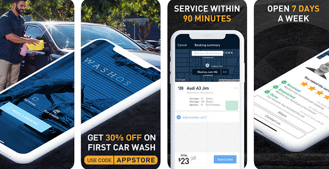 Washos car wash app