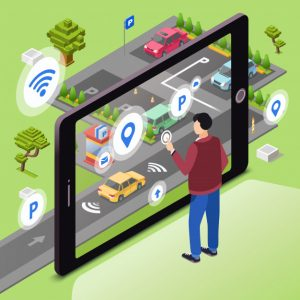 smart-parking-man-user-with-smartphone-touch-screen-control-car-driving-park_33099-165