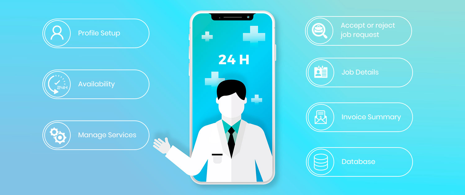 Physiotherapist app features