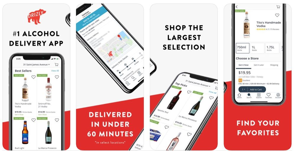 ‎Drizly Alcohol Delivery App