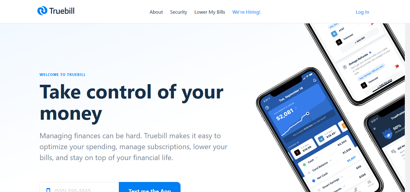 Truebill - Best For Bill Management
