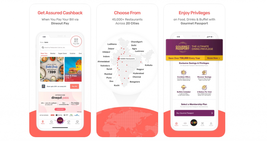 DINEOUT - Restaurant Table Booking App
