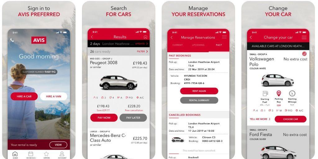 Avis - Car Rental App
