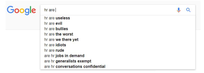 Google search HR