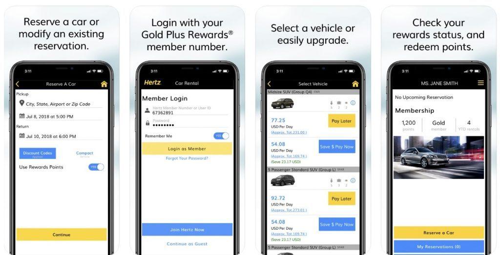 Hertz - Car Rental App