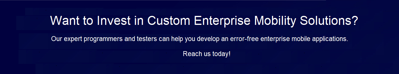 Custom Enterprise Mobility Solutions