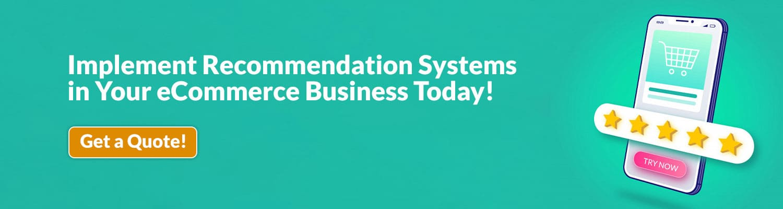 eCommerce Recommendation System Development