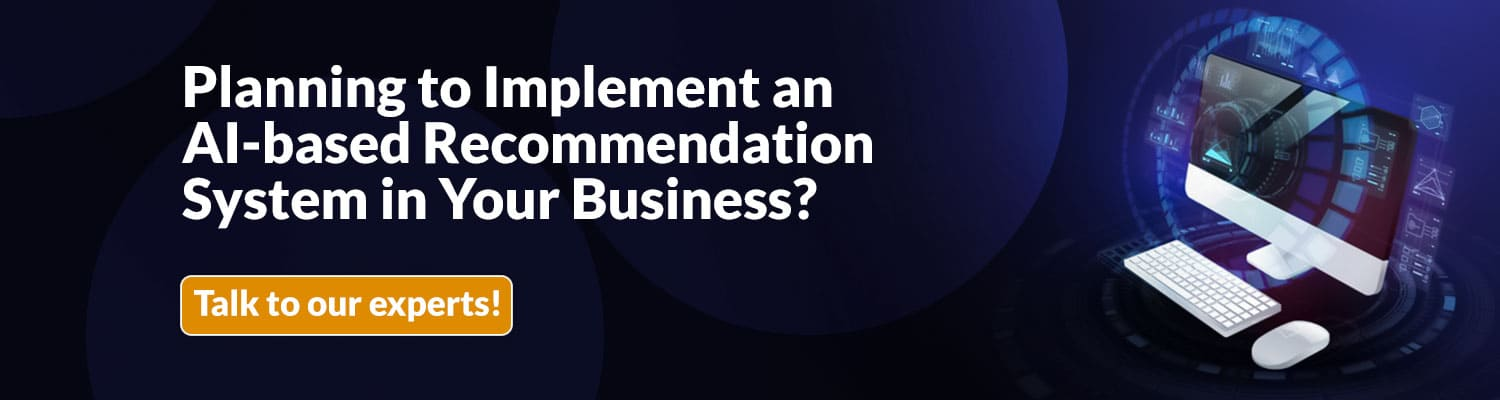 Implement AI based Recommendation System