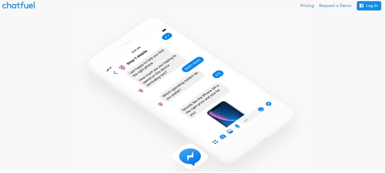 Chatfuel home page