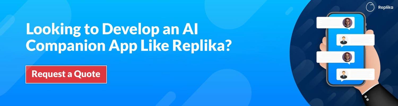 develop app like replika ai