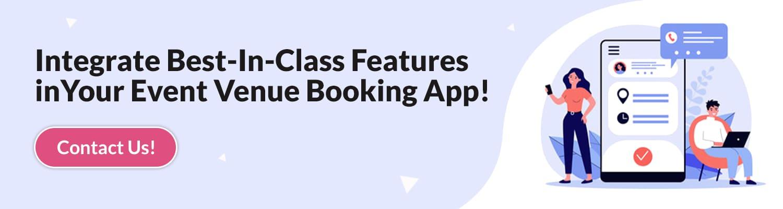 Event Venue Booking App Features