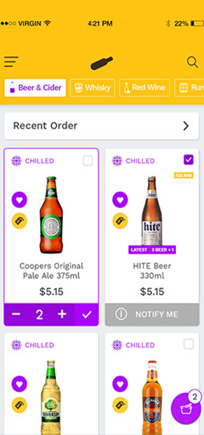 Alcohol Delivery App Screen 6