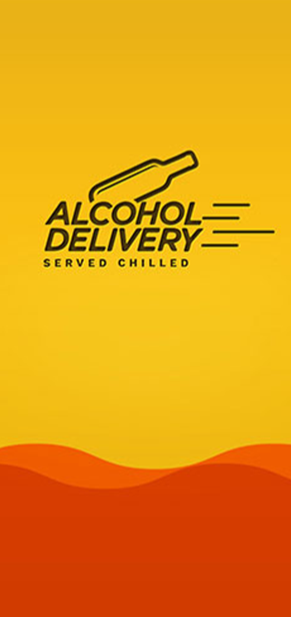 Alcohol Delivery App Screen